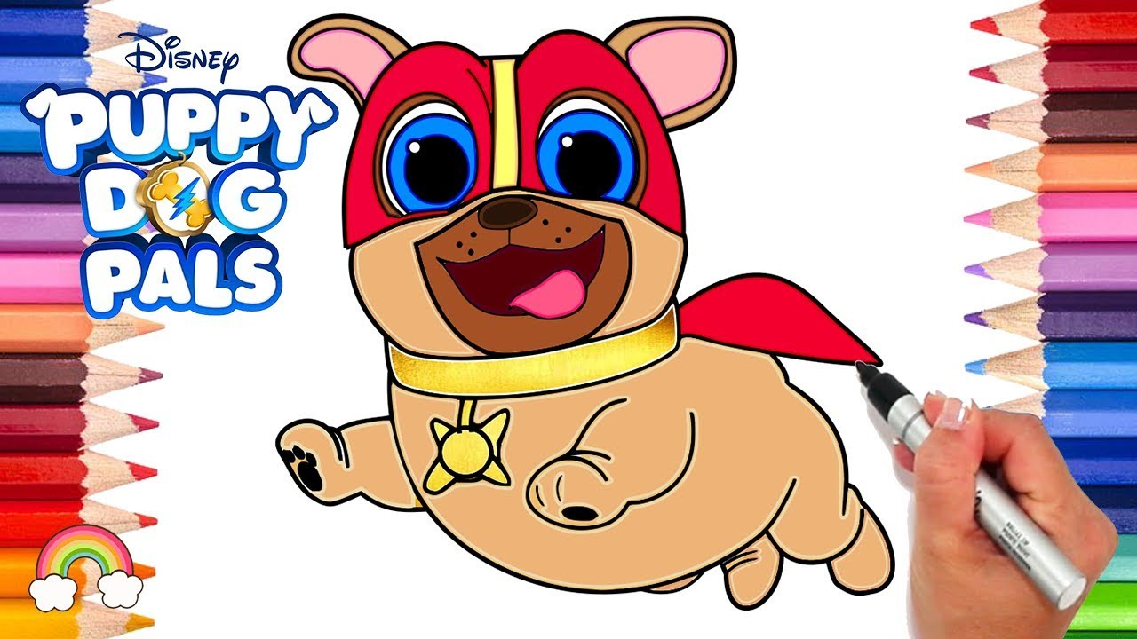 Captain Dog Puppy Dog Pals Coloring Page Puppy Dog Pals Game Disney Jr Printable Coloring Page