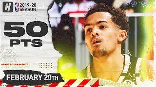 Trae Young CAREER-HIGH 50 Pts Full Highlights   Heat vs Hawks   February 20, 2020