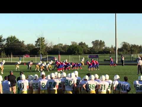 #97 Providence Catholic chasing down Marion Academy's QB