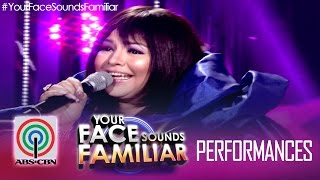 "Your Face Sounds Familiar: Karla Estrada as Sharon Cuneta - ""Sana'y Wala Ng Wakas"""