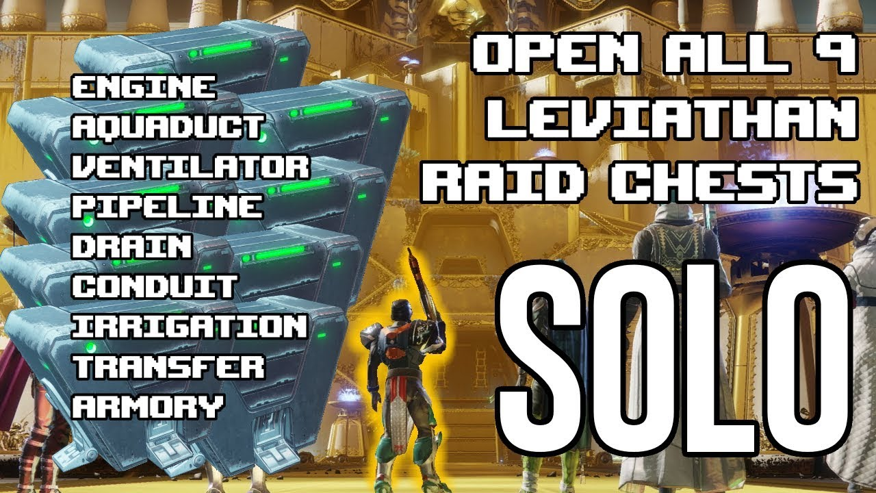 how to open the leviathan raid chests