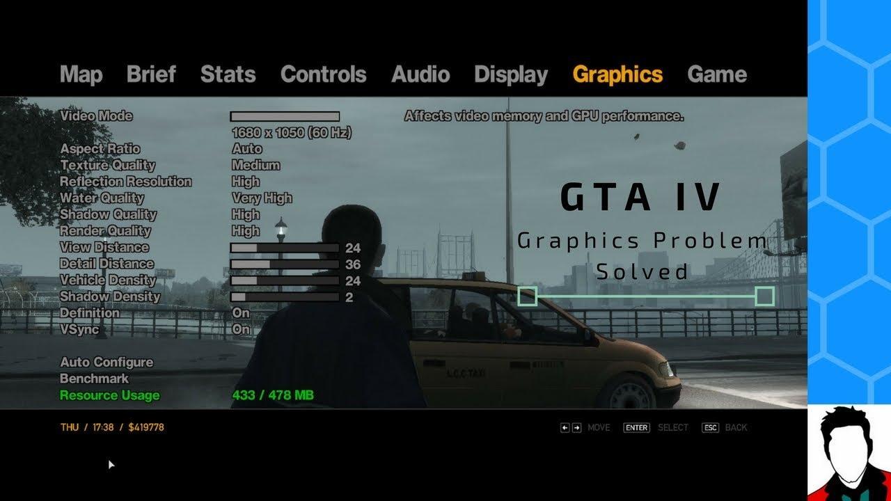 GTA IV Graphics Problem - Solved || commandline Method