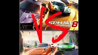ASPHALT 8 AIRBORNE VS ASPHALT NITRO HD RIVEW *WHICH ONE SHOULD YOU PLAY*