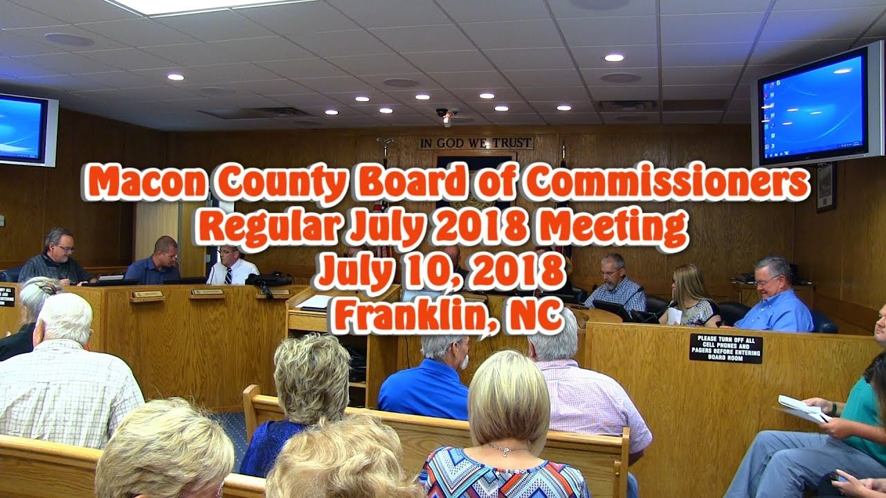 Macon County Commissioners - July 2018