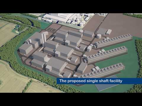 Coal Station Existing and CGI Flythrough - Eggborough Power Station