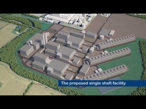 Coal Station Existing and CGI Flythrough - Eggborough Power Station
