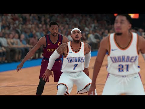 NBA 2K18 | Cleveland Cavs vs Oklahoma City Thunder Gameplay (Updated Rosters)