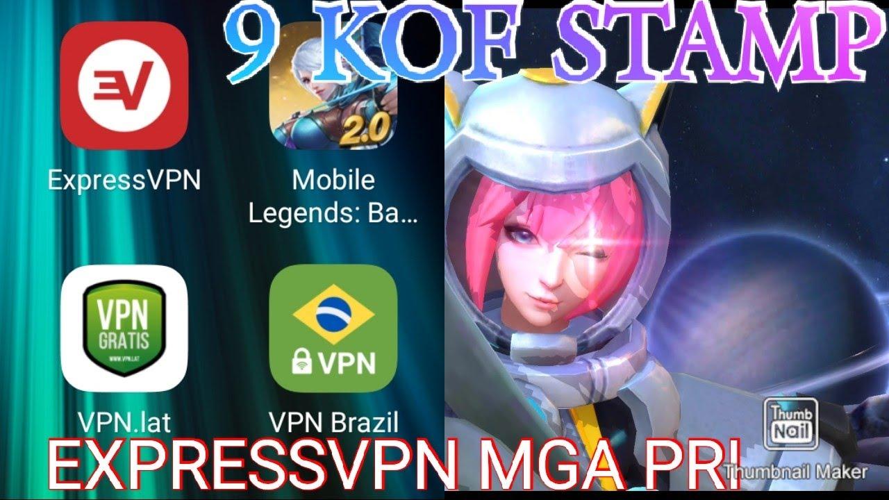 COLUMBIA VPN(EXPRESS VPN) MOBILE LEGEND GET 9 KOF STAMP FOR FREE - YouTube