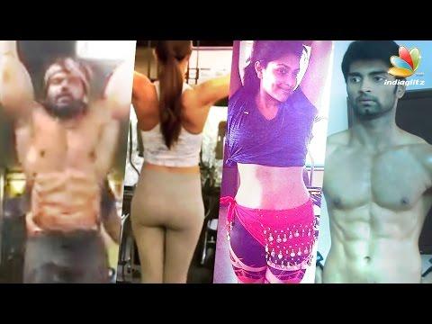 Kollywood stays fit | Celebrities Gym Workout Videos | Kajal Agarwal, Amala Paul, Arya, Atharva