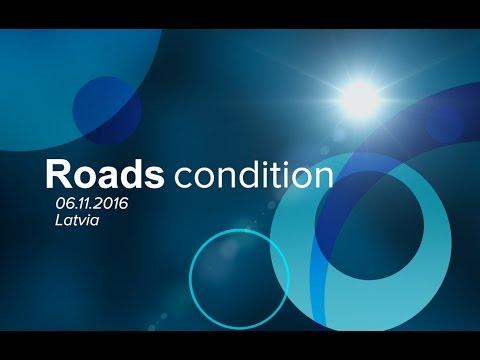 Latvia, winter roads