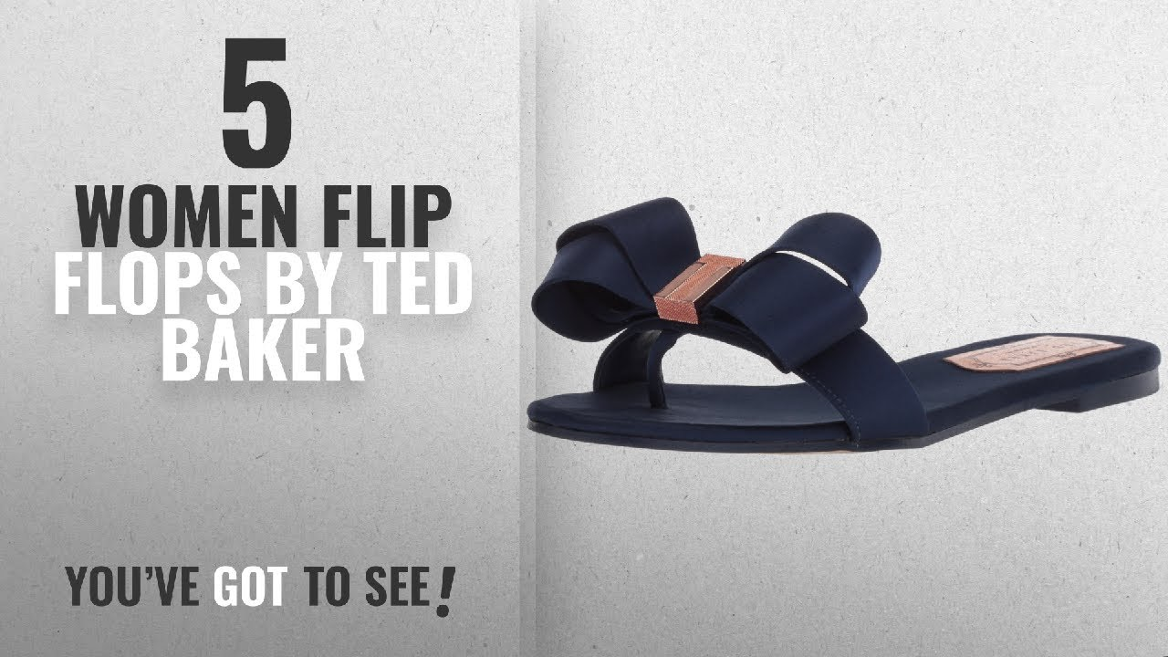 3913c3c421e4e4 Top 5 Ted Baker Women Flip Flops  2018   Ted Baker Women s Beauita Slide