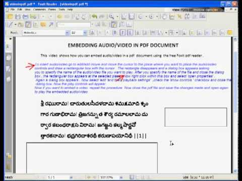 Embed Video In Pdf