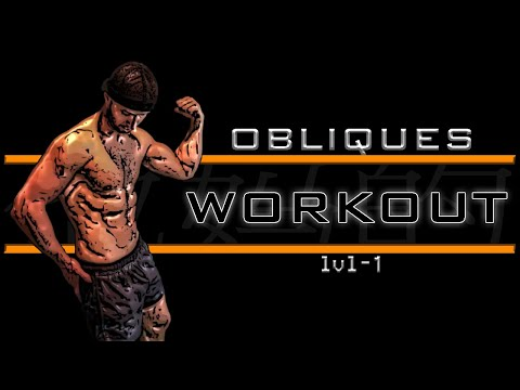 Obliques Workout Level-1 | Music +  Timer | ABS Workout | No Equipment
