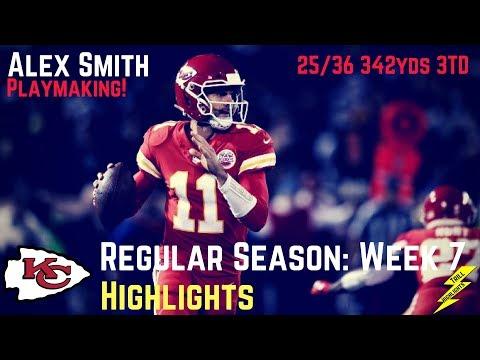 Alex Smith Week 7 Regular Season Highlights A-Smitty!   10/19/2017