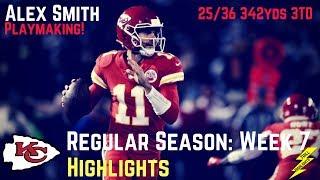 Alex Smith Week 7 Regular Season Highlights A-Smitty! | 10/19/2017