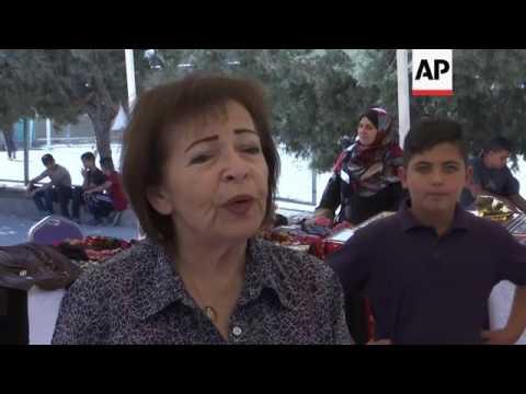 Aid agency bazaar for Syrian refugees in Amman