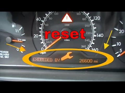 2001 clk320 service reset