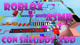 Roblox ASMR gameplay 2 Spanish, with greetings, Parkour and that xd