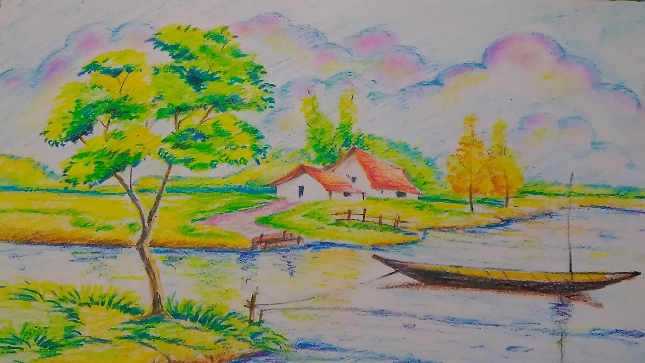 Landscapeeasy drawing tutorial for kids
