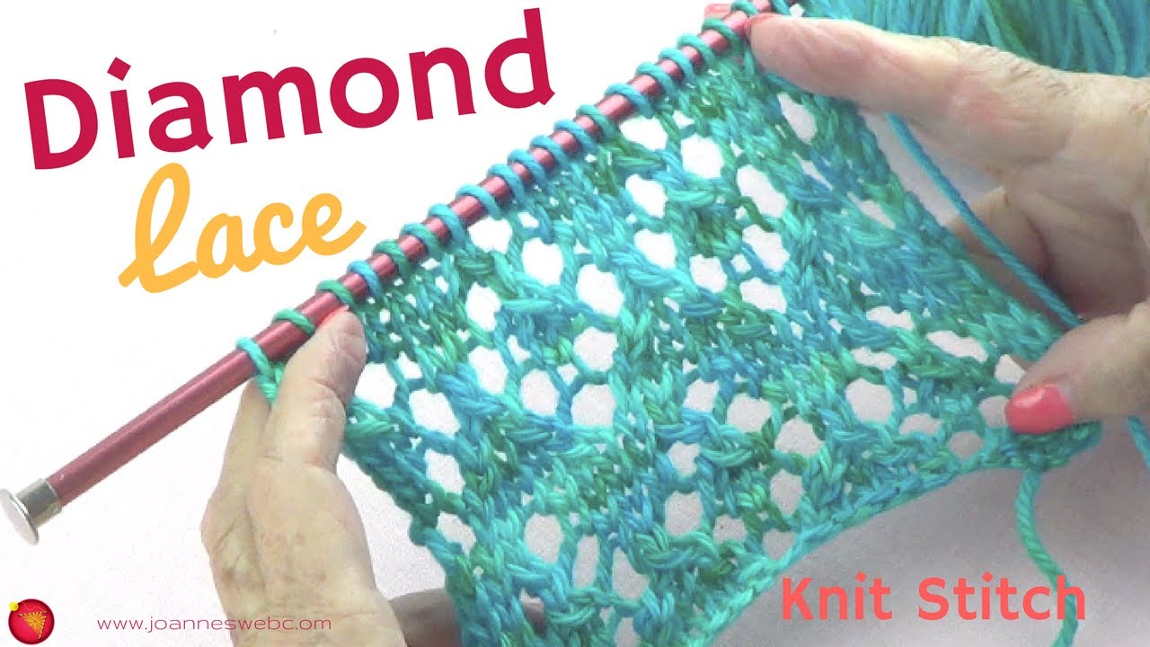 Diamond Lace Knit Stitch Diamond Knitting Pattern Rhombus