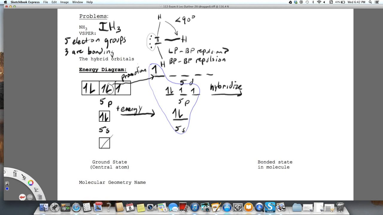 Box Diagram For Ih3 Hybridization Sp3d