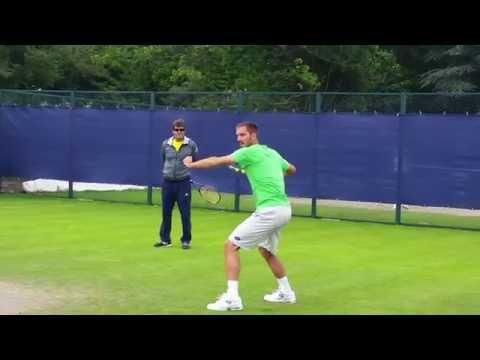 Viktor Troicki practice session (short clip) Aegon Open Nottingham 2015