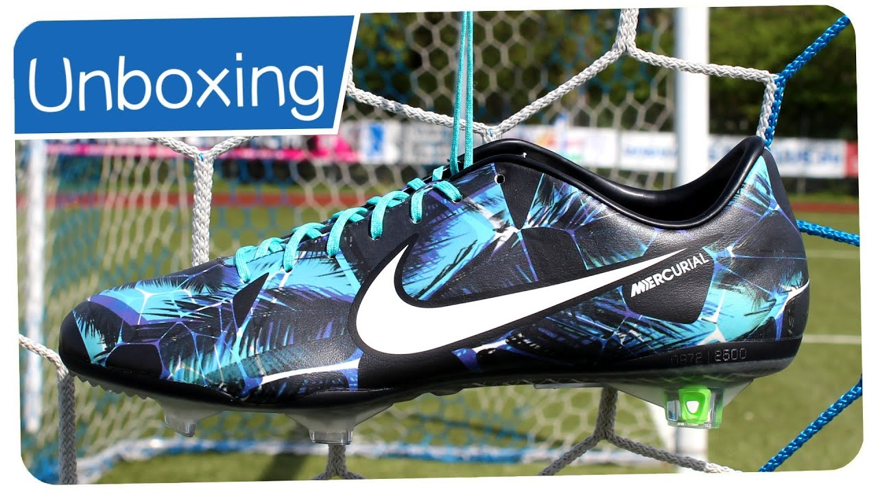 Exclusive : Nike Mercurial Vapor 9 LE TROPICAL PACK Blue/Black - Unboxing