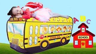 Öykü are you slieeping, School Bus - Fun kid video