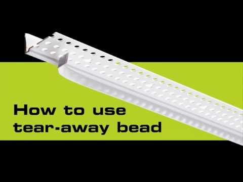 Ceiling Cover-Up - How to Use Tear-Away Bead