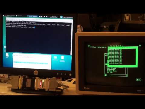 Transferring a file from linux to the 1985 UNIX PC