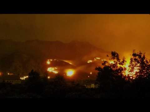 Wild Fire in Alpine, Utah: GoPro Night Time Lapse