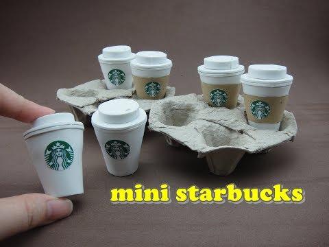 DIY Doll Accessories Mini Starbucks Coffee with Tray