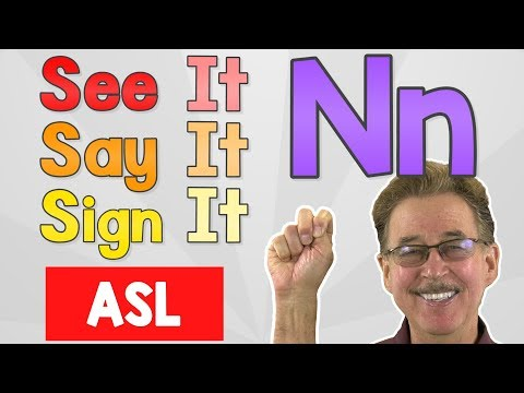 See it, Say it, Sign it   The Letter N   ASL for Kids   Jack Hartmann