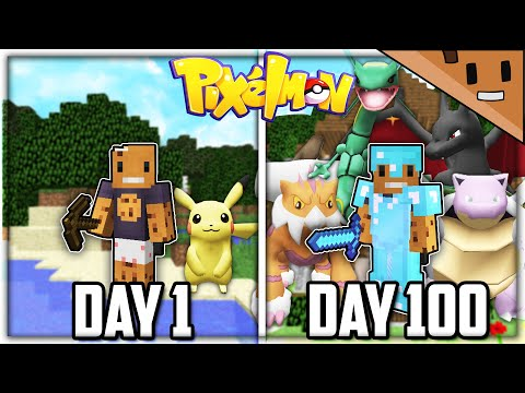 I Survived 100 Days in Minecraft PIXELMON... Here's What Happened