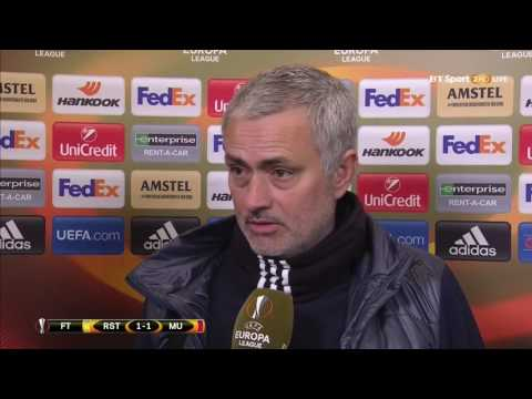 Jose Mourinho's Post Match Interview  Manchester United 1 1 FC Rostov