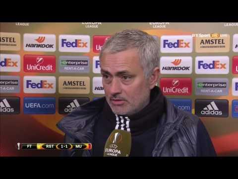 Jose Mourinho's Post Match Interview  Manchester United 1 1 FC Rostov