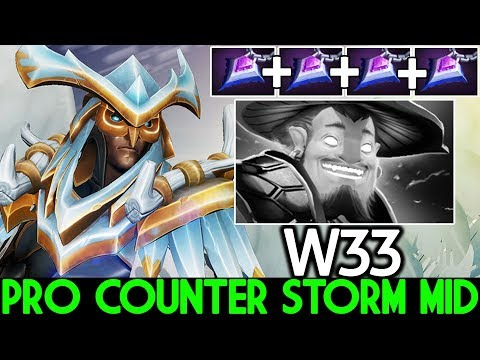 W33 [Skywrath Mage] This is Way Pro Counter Storm Spirit Mid 7.22 Dota 2