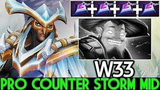 W33 [Skywrath Mage] This is Way Pro Counter Storm Spirit Mid 7.22 Dota 2
