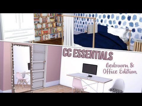the-sims-4-cc-essentials---bedroom-&-office-edition-+-links!