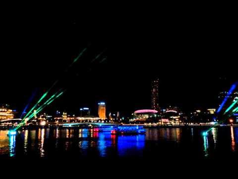 Singapore waterfront laser show 1