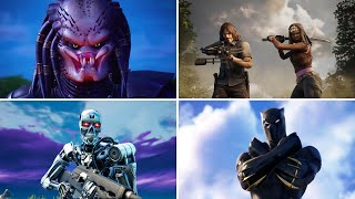 ALL FORTNITE CROSSOVER TRAILERS (Seasons 1 - 15, including Terminator)