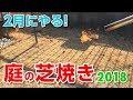 【庭の芝生】ガスバーナーで雑草の種や虫の卵を駆除!【芝焼き】