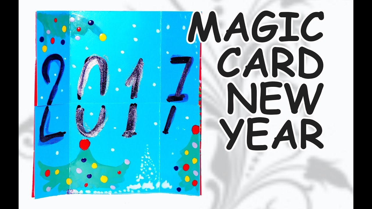 diy crafts how to make magic card new year card 2017 diy beauty and easy youtube
