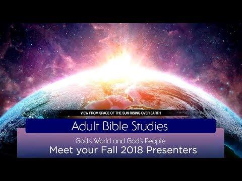 Adult Bible Studies DVD Presenters – Fall 2018