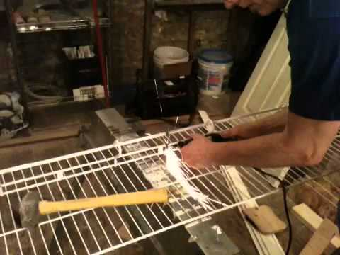 Cutting wire shelving with a Dremel - Cutting Wire Shelving With A Dremel - YouTube