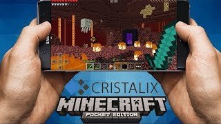 МАЙНКРАФТ В ТВОЕМ ТЕЛЕФОНЕ! ИГРАЮ НА СВОЕМ СЕРВЕРЕ Cristalix PE Bed Wars! Minecraft PE