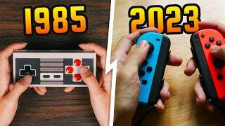 Evolution of Nintendo C๐ntrollers (Animation)