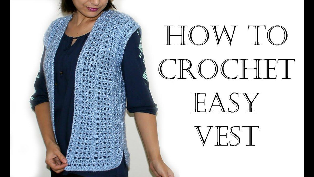 Crochet Easy Vest Youtube