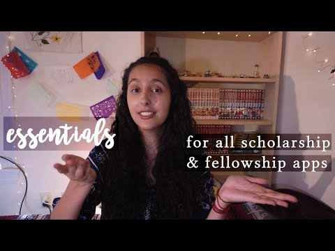 ESSENTIALS FOR WINNING ANY SCHOLARSHIP AND FELLOWSHIP