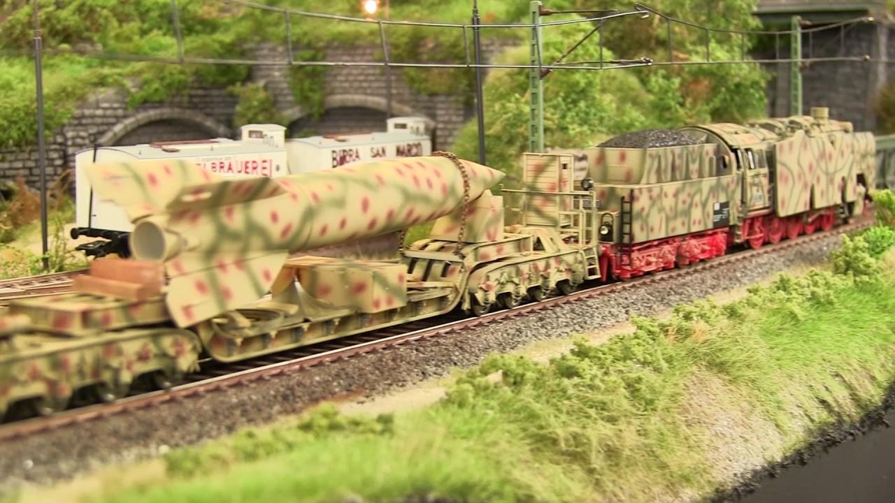 German V2 Rocket Transport Train Set